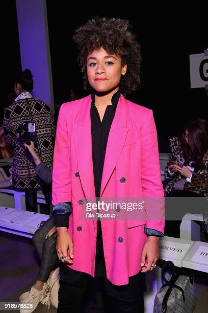 Actor Ariana DeBose attends the Dan Liu fashion show during New York Fashion Week The Shows at Gallery II at Spring Studios on February 10 2018 in...