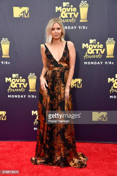 Actor Ariana Madix attends the 2018 MTV Movie And TV Awards at Barker Hangar on June 16 2018 in Santa Monica California