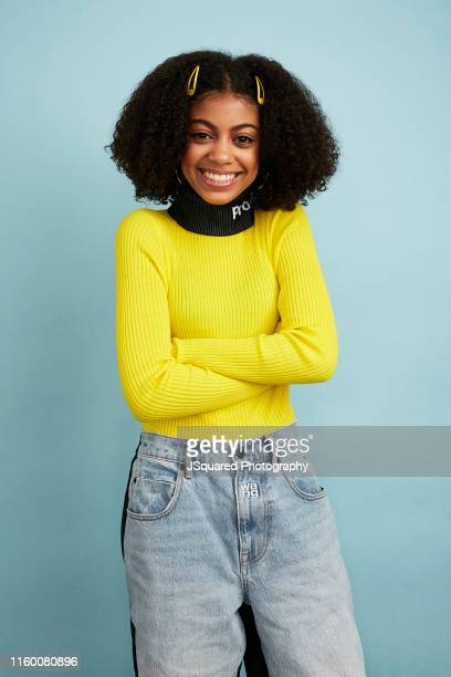 Actor Arica Himmel of ABC's 'Mixedish' poses for a portrait during the 2019 Summer TCA Portrait Studio at The Beverly Hilton Hotel on August 05 2019...