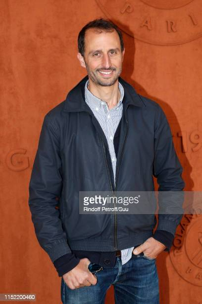 Actor Arie Elmaleh attends the 2019 French Tennis Open - Day Three at Roland Garros on May 28, 2019 in Paris, France.
