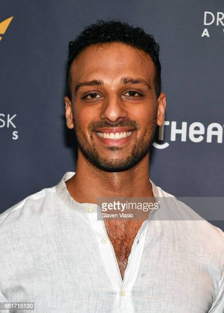 Actor Ari'el Stachel attends 2017 Drama Desk Nominees reception at Marriott Marquis Times Square on May 10 2017 in New York City