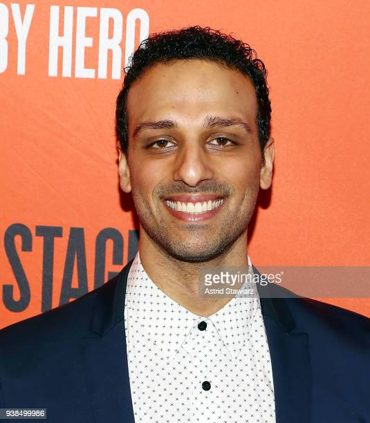 Actor Ari'el Stachel attends 'Lobby Hero' Broadway opening night at Hayes Theater on March 26 2018 in New York City