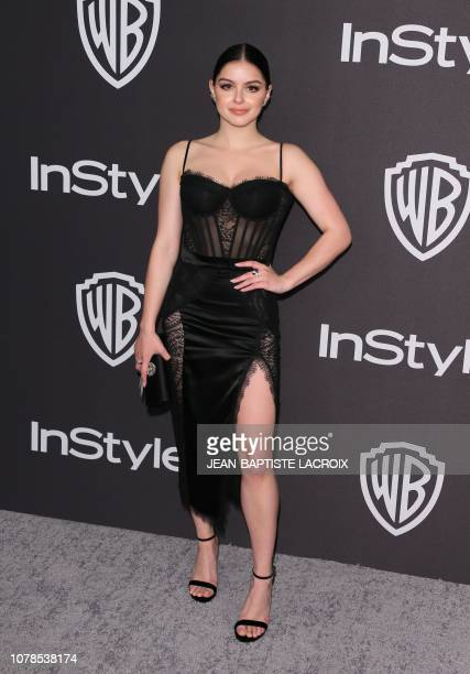 US actor Ariel Winter arrives for the Warner Bros and In Style 20th annual post Golden Globes party at the Oasis Courtyard of the Beverly Hilton...