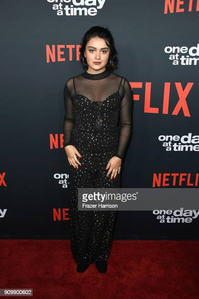 Actor Ariela Barer attends the premiere of Netflix's One Day At A Time Season 2 at ArcLight Hollywood on January 24 2018 in Hollywood California