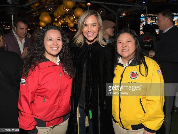 Actor Arielle Kebbel with City Year AmeriCorps members at City Year Los Angeles Spring Break on May 6 2017 in Los Angeles California