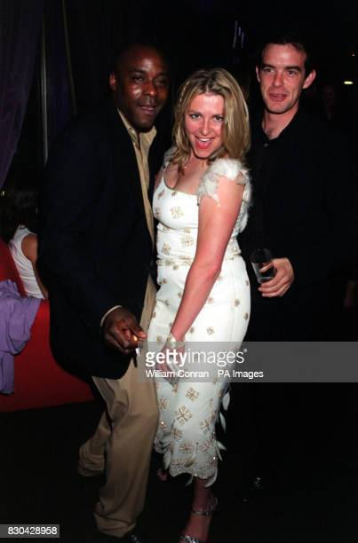 Actor Ariyon Bakare who plays 'Adrian Scott' with Rebecca Blake who plays 'Nikki Warrington' and Quentin Jones who plays 'Declan Byrne' at Channel...