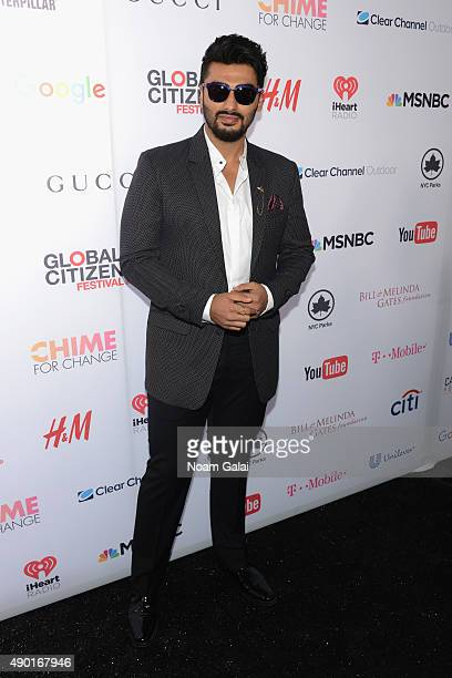Actor Arjun Kapoor attends the 2015 Global Citizen Festival to end extreme poverty by 2030 in Central Park on September 26 2015 in New York City