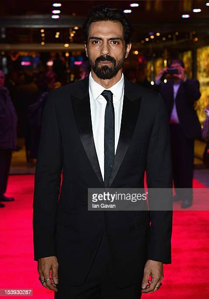 Actor Arjun Rampal attends the 'Chakravyuh' premiere during the 56th BFI London Film Festival at the Empire Leicester Square on October 11 2012 in...