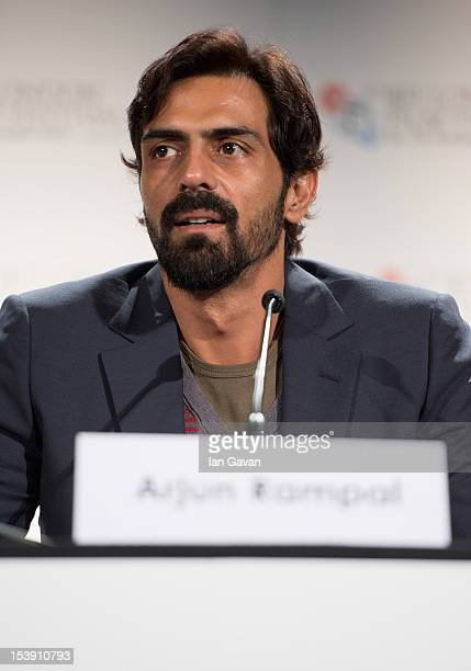 Actor Arjun Rampal attends the 'Chakravyuh' press conference during the 56th BFI London Film Festival at the Empire Leicester Square on October 11...