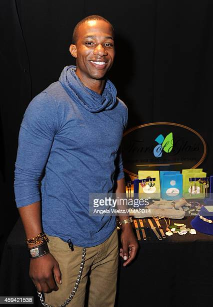 Actor Arlen Escarpeta attends the 2014 American Music Awards UPS Gifting Suite at Nokia Theatre LA Live on November 22 2014 in Los Angeles California