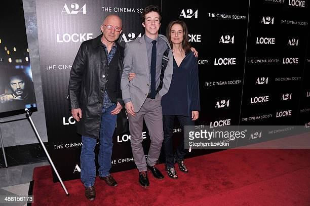 Actor Arliss Howard Gideon Babe Ruth Howard and Debra Winger attend the A24 and The Cinema Society premiere of Locke at The Paley Center for Media on...