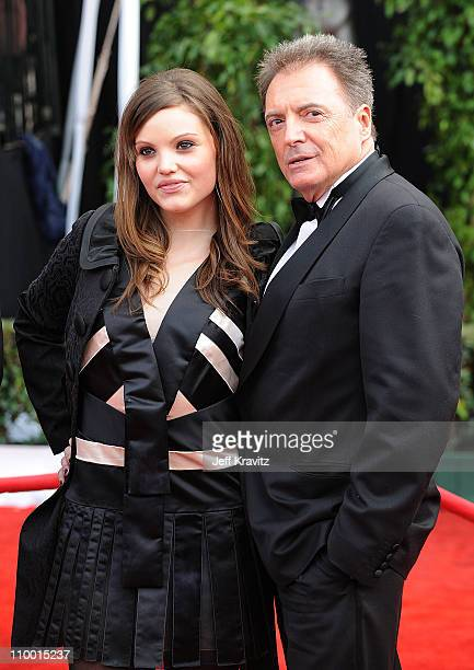 Actor Armand Assante and daughter Alessandra Assante arrive to the 14th Annual Screen Actors Guild Awards at the Shrine Auditorium on January 27 2008...