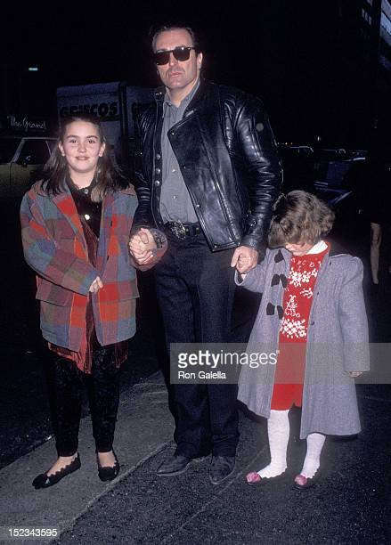 Actor Armand Assante and daughters Anya and Alessandra attend The Nutcracker New York City Premiere on November 22 1993 at the Ziegfeld Theatre in...