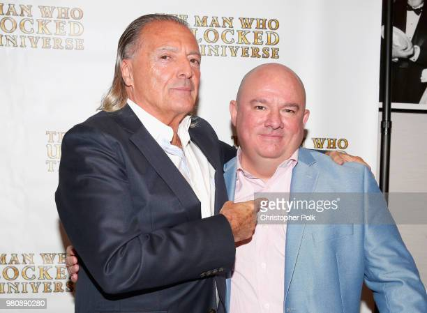 Actor Armand Assante and director Bakhodir Yuldashev at the premiere of THE MAN WHO UNLOCKED THE UNIVERSE on June 21 2018 in West Hollywood California