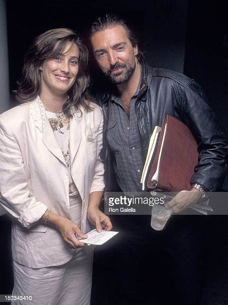 Actor Armand Assante and wife Karen attend The Little Thief New York City Premiere on August 22 1989 at Tinker Auditorium French Institute/Alliance...