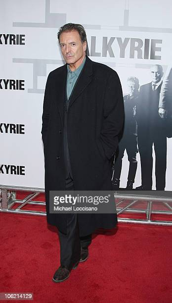 Actor Armand Assante attends the New York premiere of 'Valkyrie' at Rose Hall Time Warner Center on December 15 2008 in New York City