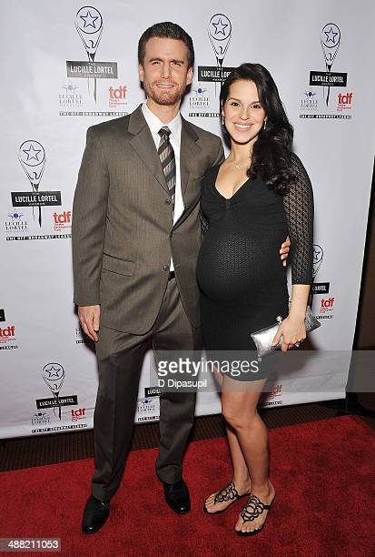 Actor Armando Riesco and actress Shirley Rumierk attends the 29th Annual Lucille Lortel Awards at NYU Skirball Center on May 4 2014 in New York City