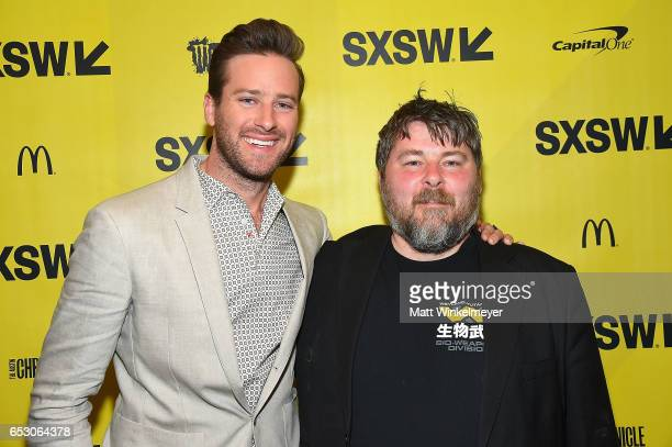 Actor Armie Hammer and director Ben Wheatley attend the 'FREE FIRE' premiere 2017 SXSW Conference and Festivals on March 13 2017 in Austin Texas