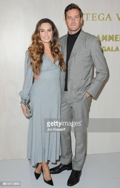 Actor Armie Hammer and Elizabeth Chambers arrive at the Hammer Museum Gala In The Garden at Hammer Museum on October 14 2017 in Westwood California