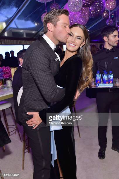 Actor Armie Hammer and Elizabeth Chambers attend FIJI Water at HFPA's Official Viewing and AfterParty at the Wilshire Garden inside The Beverly...