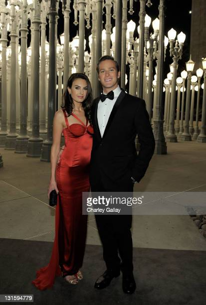 Actor Armie Hammer and Elizabeth Chambers attend LACMA Art Film Gala Honoring Clint Eastwood and John Baldessari Presented By Gucci at Los Angeles...