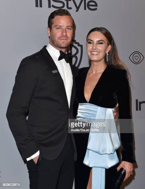 Actor Armie Hammer and Elizabeth Chambers attend the 19th Annual PostGolden Globes Party hosted by Warner Bros Pictures and InStyle at The Beverly...