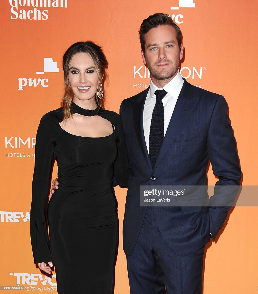 Actor Armie Hammer and wife Elizabeth Chambers attend The Trevor Project's 2017 TrevorLIVE LA at The Beverly Hilton Hotel on December 3, 2017 in Beverly Hills, California.