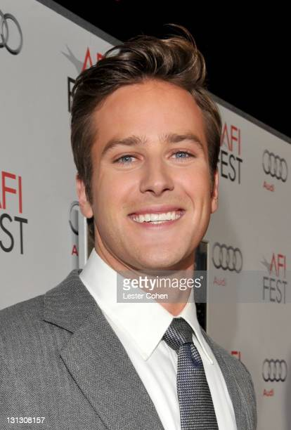"""Actor Armie Hammer arrives at the AFI Fest 2011 Opening Night Gala World Premiere Of """"J. Edgar"""" at Grauman's Chinese Theatre on November 3, 2011 in..."""