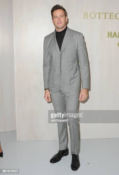 Actor Armie Hammer arrives at the Hammer Museum Gala In The Garden at Hammer Museum on October 14 2017 in Westwood California