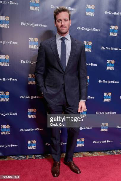 Actor Armie Hammer attends IFP's 27th Annual Gotham Independent Film Awards on November 27 2017 in New York City
