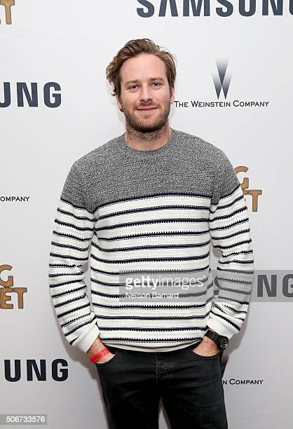 Actor Armie Hammer attends Samsung and The Weinstein Company Present the SING STREET Party during The Sundance Film Festival 2016 on January 24 2016...