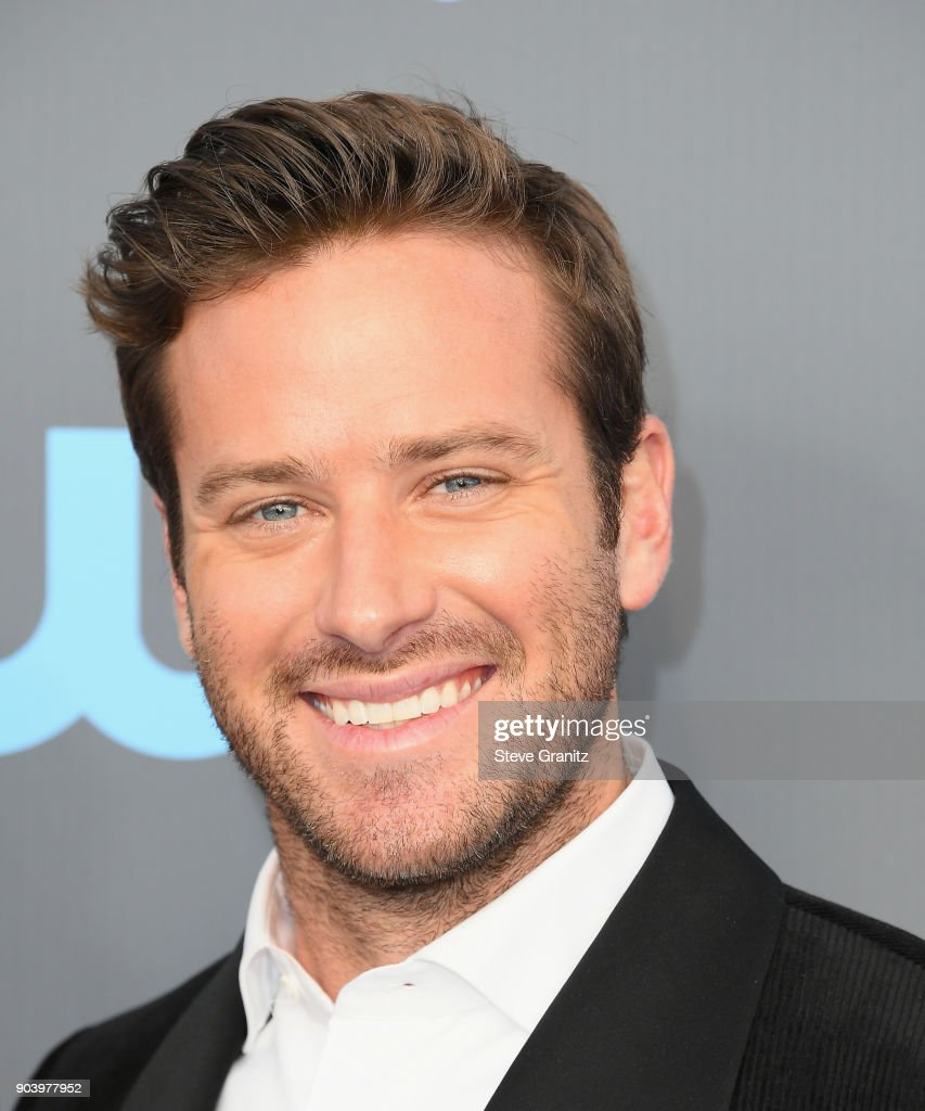 Actor Armie Hammer attends The 23rd Annual Critics' Choice Awards at Barker Hangar on January 11, 2018 in Santa Monica, California.