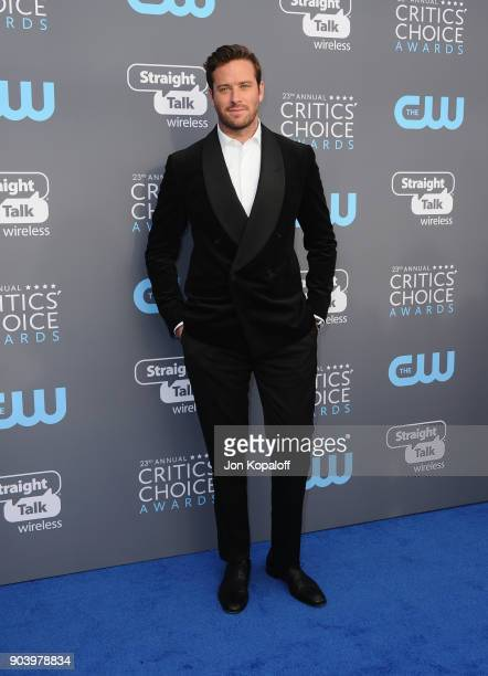 Actor Armie Hammer attends The 23rd Annual Critics' Choice Awards at Barker Hangar on January 11 2018 in Santa Monica California