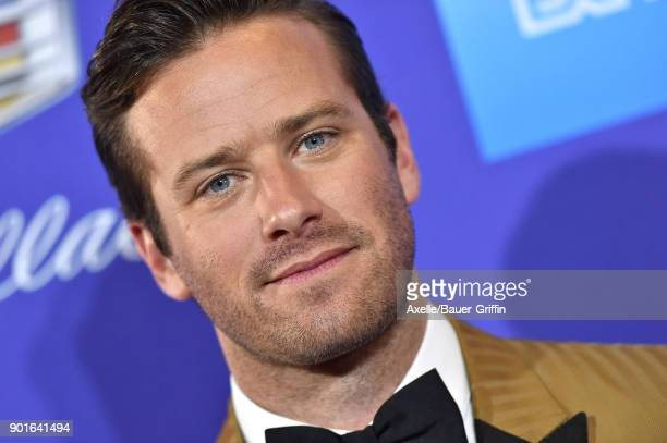 Actor Armie Hammer attends the 29th Annual Palm Springs International Film Festival Awards Gala at Palm Springs Convention Center on January 2 2018...