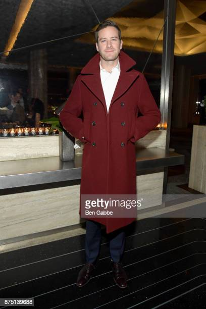 Actor Armie Hammer attends The Cinema Society screening of Sony Pictures Classics' 'Call Me By Your Name' after party at Bar SixtyFive on November 16...