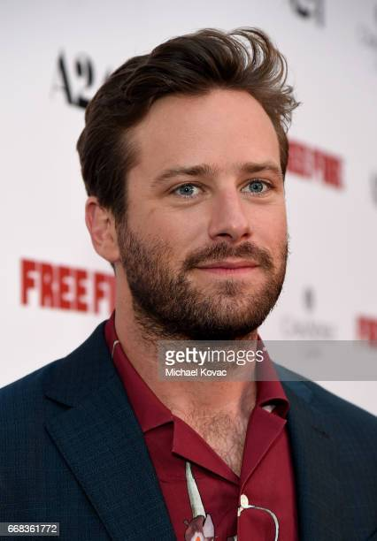 Actor Armie Hammer attends The Los Angeles Premiere Of 'Free Fire' Presented By Casa Noble Tequila on April 13 2017 in Los Angeles California