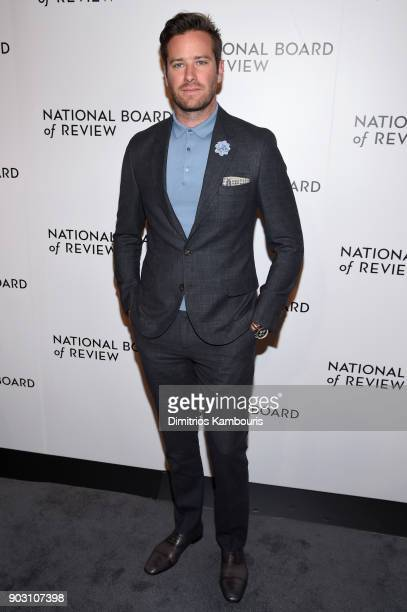Actor Armie Hammer attends the National Board of Review Annual Awards Gala at Cipriani 42nd Street on January 9 2018 in New York City