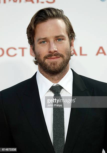 Actor Armie Hammer attends the 'Nocturnal Animals' Headline Gala screening during the 60th BFI London Film Festival at Odeon Leicester Square on...