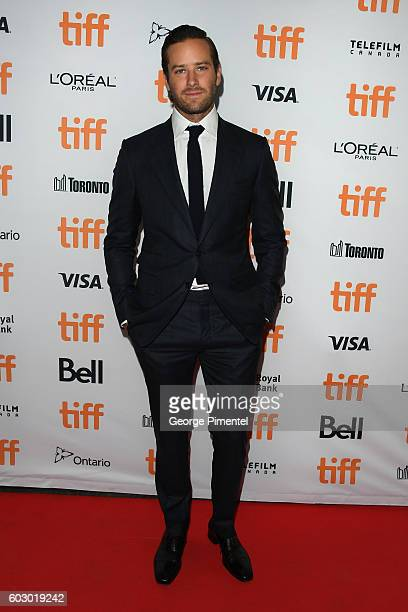 Actor Armie Hammer attends the 'Nocturnal Animals' premiere during the 2016 Toronto International Film Festival at Princess of Wales Theatre on...