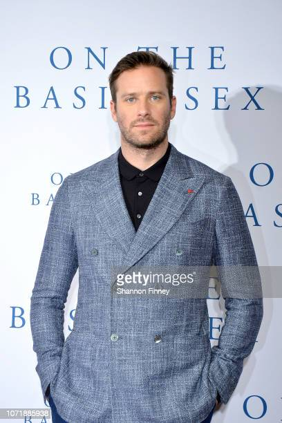 Actor Armie Hammer attends the screening of the film On The Basis of Sex at The National Archives on December 11 2018 in Washington DC
