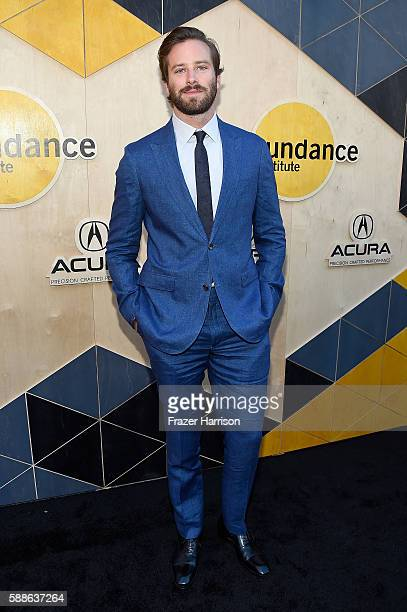 Actor Armie Hammer attends the Sundance Institute NIGHT BEFORE NEXT Benefit at The Theatre at The Ace Hotel on August 11 2016 in Los Angeles...