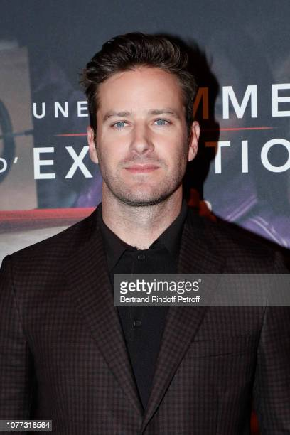 Actor Armie Hammer attends the Une Femme d'Exception On the Basis of Sex Paris Premiere at Cinema Gaumont Capucine on December 04 2018 in Paris France