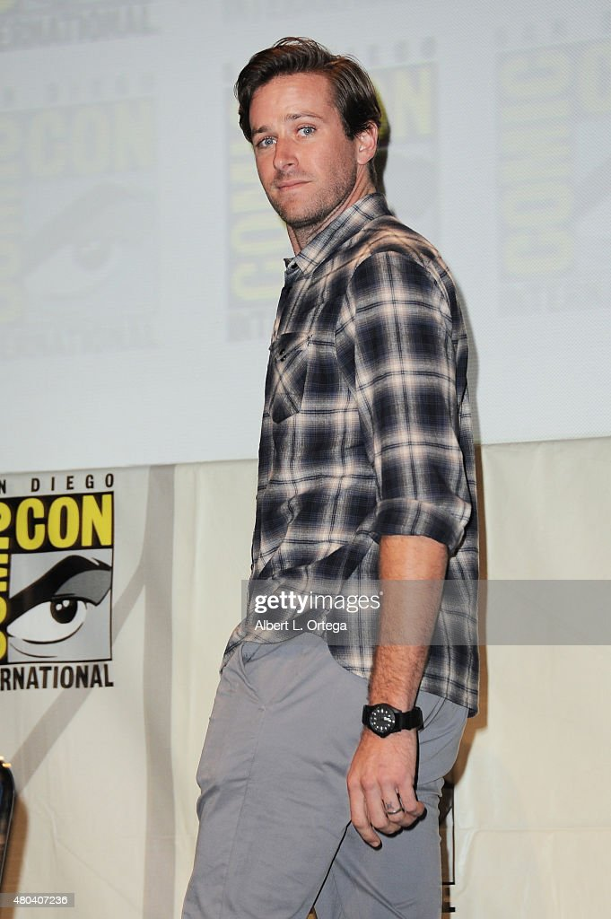 Actor Armie Hammer attends the Warner Bros. 'The Man from U.N.C.L.E.' presentation during Comic-Con International 2015 at the San Diego Convention Center on July 11, 2015 in San Diego, California.
