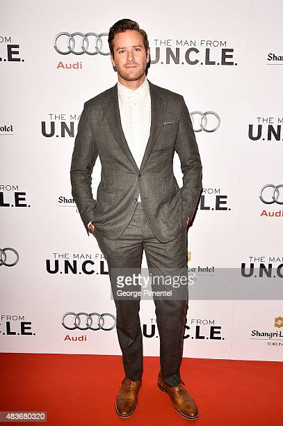 Actor Armie Hammer attends Warner Bros Pictures Canada and Audi Canada host a private cocktail reception for the Canadian premiere of 'The Man From...