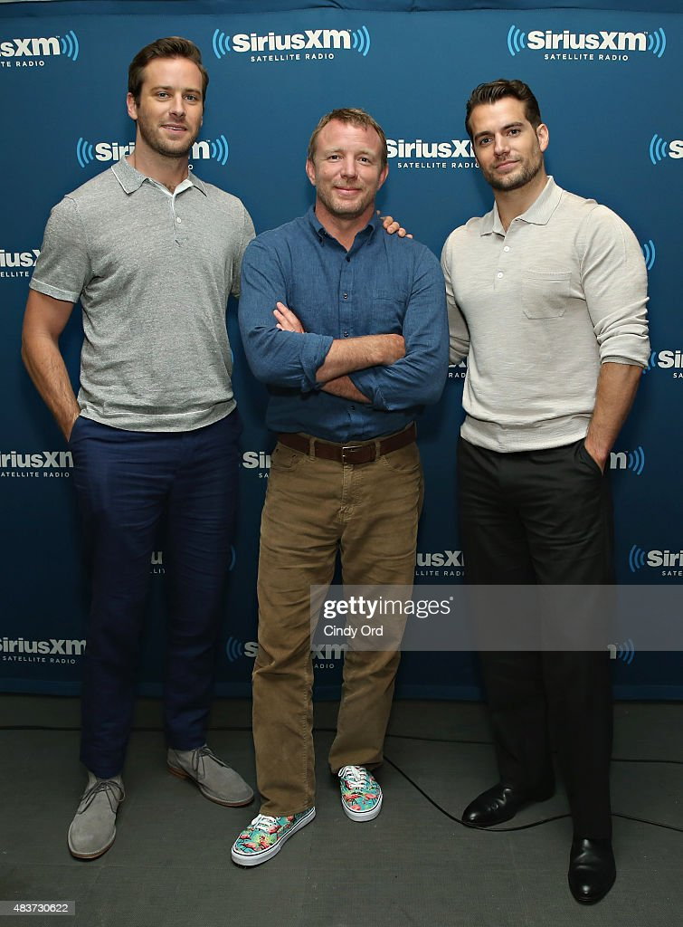 Actor Armie Hammer, director Guy Ritchie and actor Henry Cavill pose for a photo during SiriusXM's Entertainment Weekly Radio 'The Man from U.N.C.L.E.' Town Hall with Guy Ritchie, Henry Cavill and Armie Hammer on August 12, 2015 in New York City.