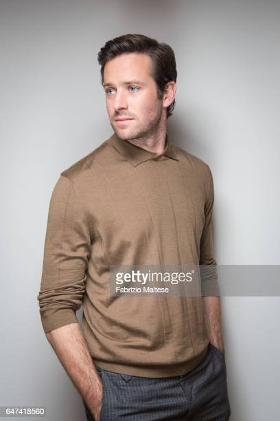 Actor Armie Hammer is photographed for Self Assignment on February 13 2017 in Berlin Germany