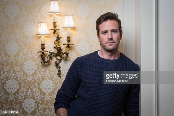 Actor Armie Hammer is photographed for The Hollywood Reporter on February 13 2017 in Berlin Germany