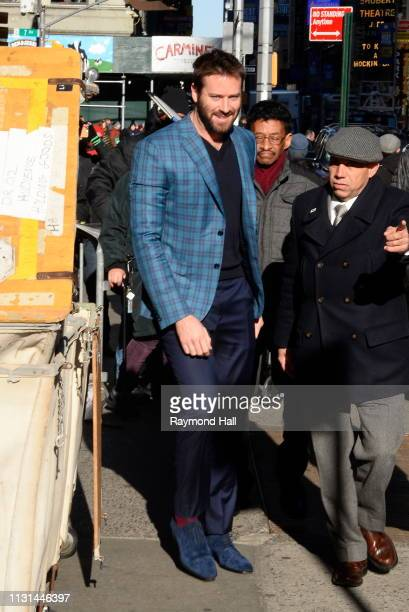 Actor Armie Hammer is seen outside Good Morning America on March 18 2019 in New York City