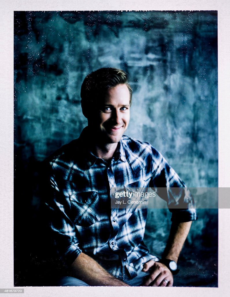 Actor Armie Hammer of ' Man from U.N.C.L.E.' is photographed on polaroid film at Comic-Con International 2015 for Los Angeles Times on July 9, 2015 in San Diego, California. PUBLISHED IMAGE.