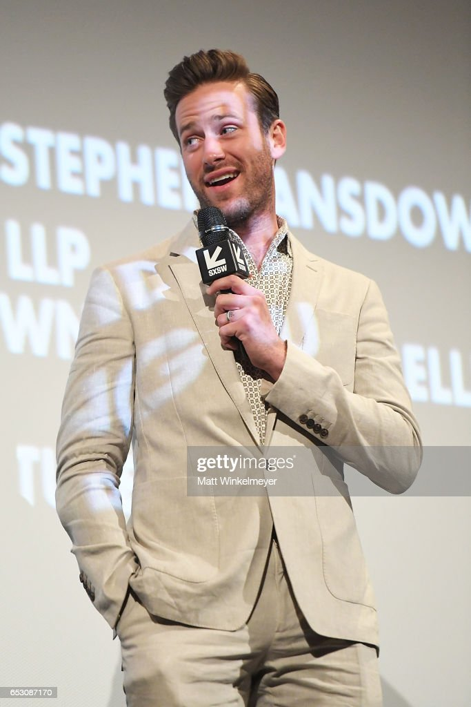 Actor Armie Hammer speaks onstage during the 'FREE FIRE' premiere 2017 SXSW Conference and Festivals on March 13, 2017 in Austin, Texas.